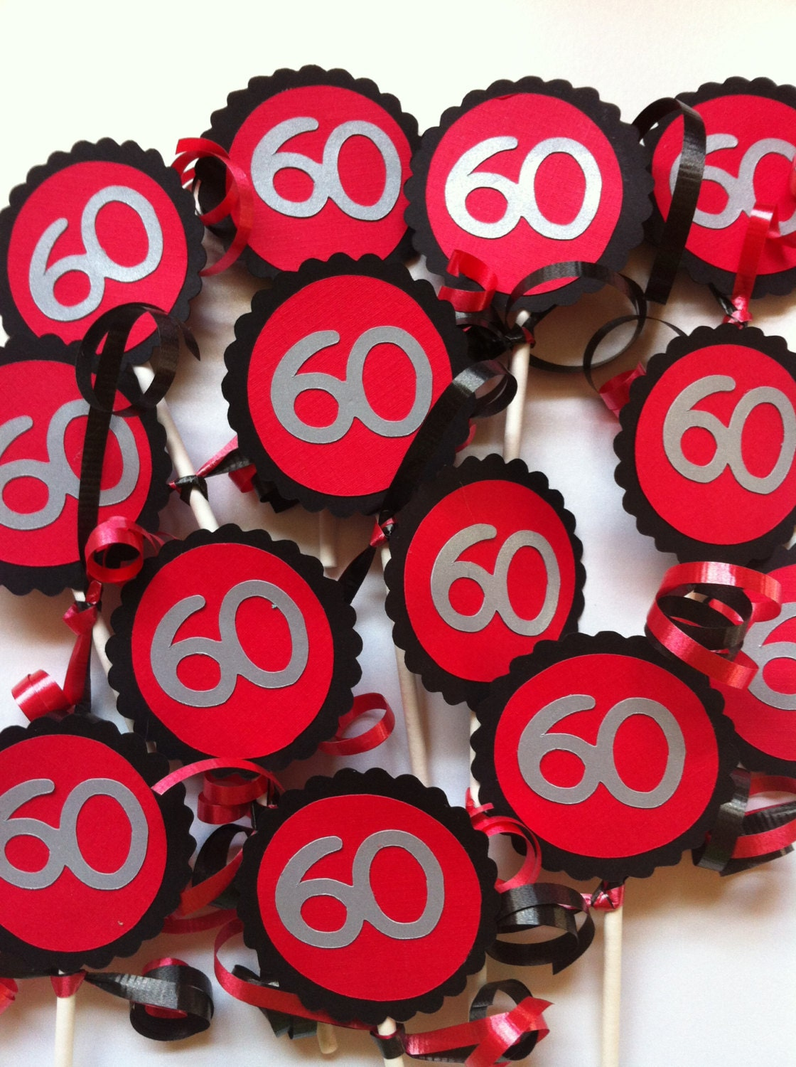 60th birthday decorations cupcake toppers for 60th birthday decoration