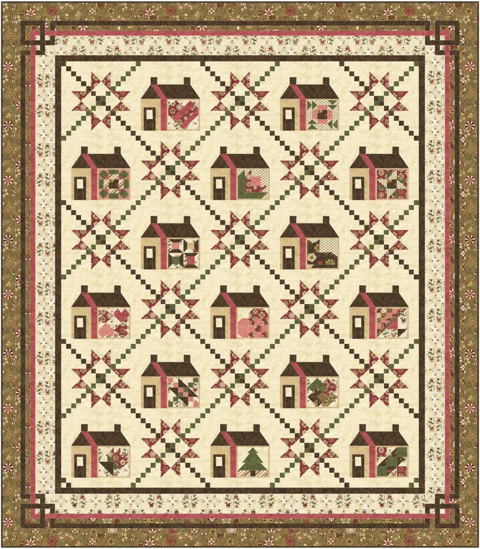 Sampler Quilt Pattern Large Queen Each House Block Has A