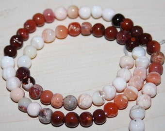 Natural AAA Quality Fire Opal 6mm Smooth Round Gemstone Beads 13 Inches RD020
