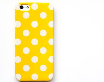 Polka Dot iPhone 5s Case, Yellow iPhone 5s Cover, iPhone 5