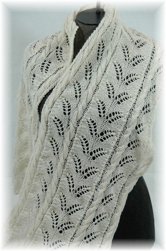 Pure Cashmere Lace Scarf / Shawl for women