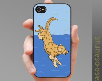 Doggy Diver - Golden Retriever iPhone Case for iPhone 6, iPhone 5/5s or iPhone 4/4s, Samsung Galaxy S6, Galaxy S5, Galaxy S4, Galaxy S3