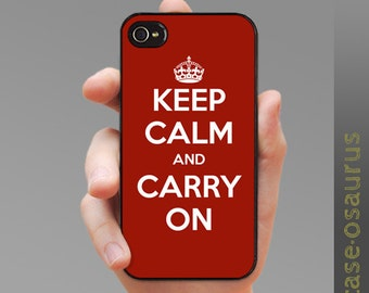 Keep Calm and Carry On Case for iPhone 6/6S, 6+/6S+, 5/5S, 5C, 4/4S, iPod Gen 5, Samsung Galaxy S6, Galaxy S5, Galaxy S4, Galaxy S3