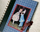 Notebook: Handmade French Themed Pierrot Ephemera Journal--Recycled 1972 Reader's Digest Book Cover; Wedding Guest Book
