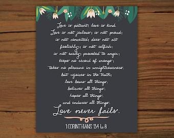 1 Corinthians 13:4-8 Print
