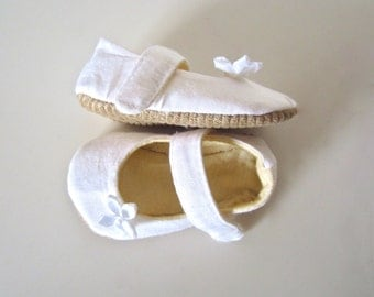 Baby Christening or Babtism Baby Girl White Baby Shoes