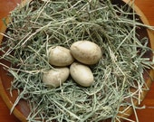 Primitive Easter Eggs, farmhouse decor, kitchen decoration, spring nests