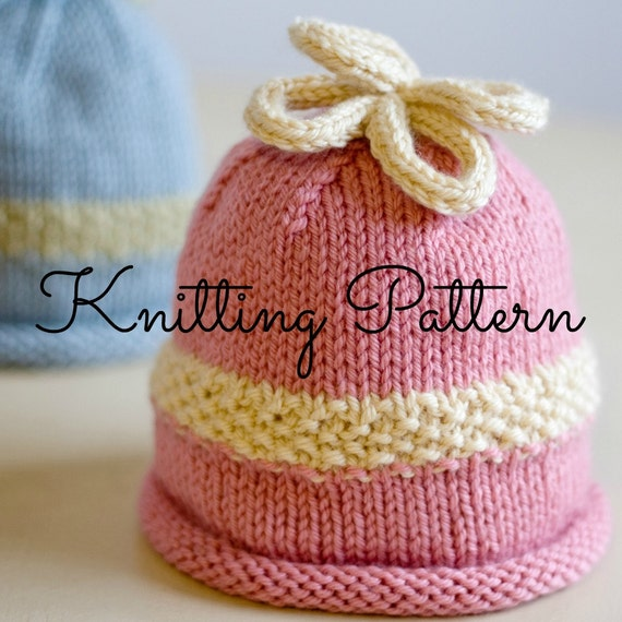 Knitting Pattern For Baby Loopy Hat : Knitting Pattern/DIY Instructions Loopy by BlueberryBarnDesigns