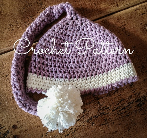 Free Crochet Pattern Long Elf Hat : Items similar to Long Tail Elf Baby Hat - Crochet Pattern ...