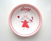Ceramic Bowl Princess Girl - Personalized Name, Heart, Butterfly
