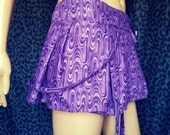 Purple psychedelic wrap skirt