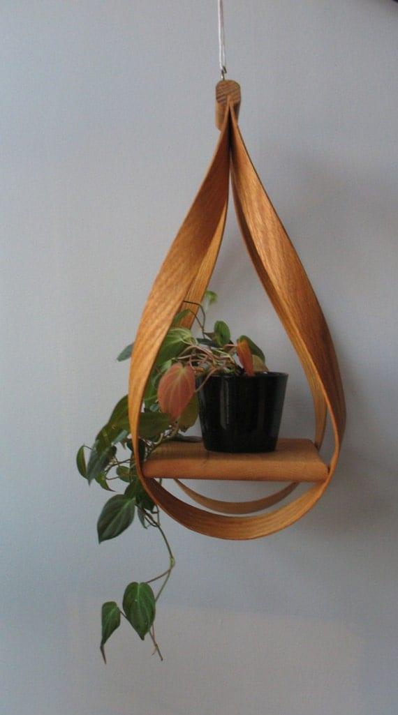 Bentwood Hanging Plant Holder