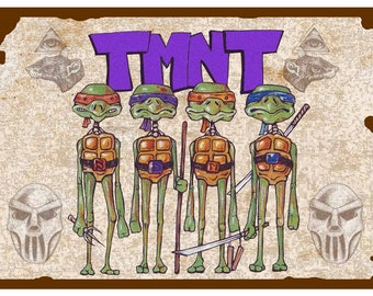Ninja Turtles Poster - 11x17 inches - by Indrid Cold