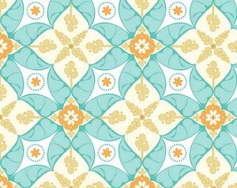 Calliope Scroll in Aqua from RIley Blake Fabrics 1 Yard Cut