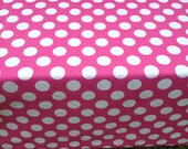 "44"" X 90"" Rectangle Table Cloth Only Minnie Mouse  Birthday Party Pink with White Polka Dot"
