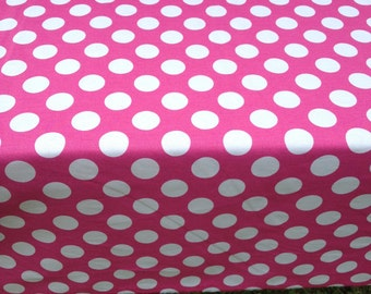 "My Little Pony 44"" X 108"" Rectangle Table Cloth Pink with White Polka Dot. Will fit 8' foot long table."