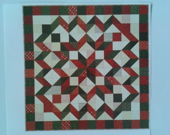 Red, White, & Evergreen Quilt Pattern by Sandy Gervais