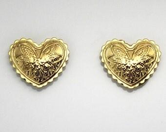 Concho Heart Magnetic Earrings