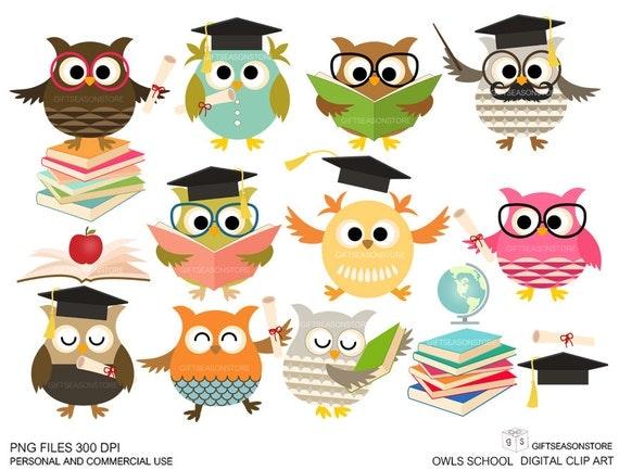 School owls Digital clip art for 0b829a40d367