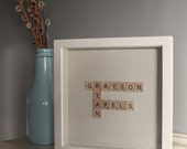 Personalized Scrabble Tile Name Art