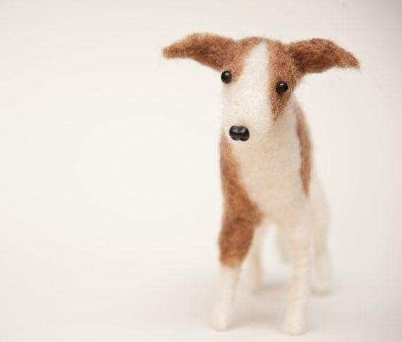 Needle Felted Italian Greyhound Custom for Laura