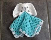 Crochet PDF Pattern - Cute Bunny Lovey/Comforter