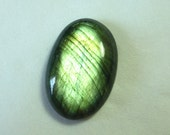 YEAREND MEGAPROMO SALE 31.20ct Full Flashy Oval Labradorite Cabochon 28x19