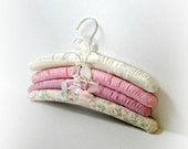 Vintage Satin Covered Hangers