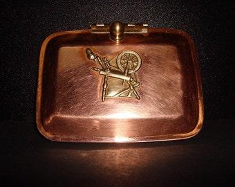 Vintage Copper and Brass Trinket Box