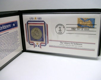 The Victory At Yorktown Official Medalist First Day Cover 1981