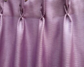 Purple Vintage Fiberglass Drapes -- Mid Century