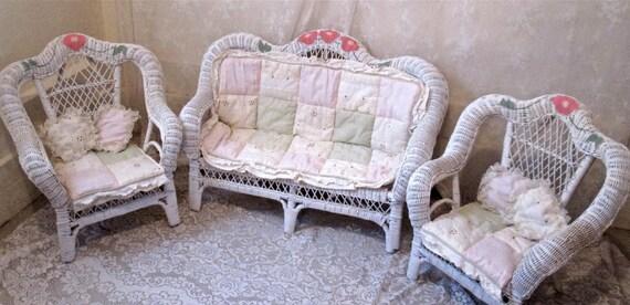 Children's Wicker Furniture Set