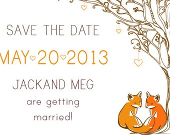 Fox Save the Date set of 25
