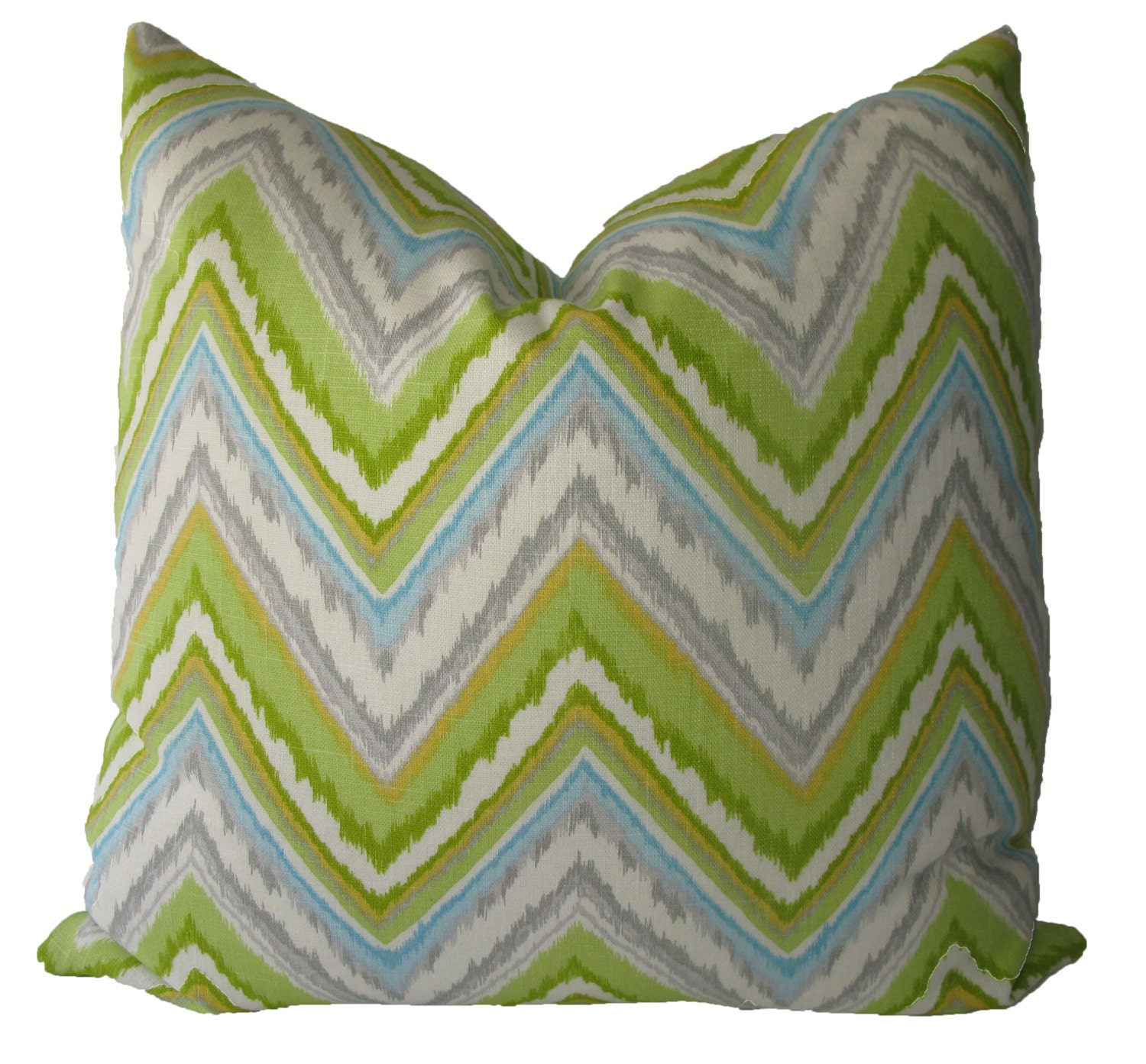 Decorative Throw Pillows Etsy : Decorative Designer Ikat Chevron Pillow Cover by MakingFabulous