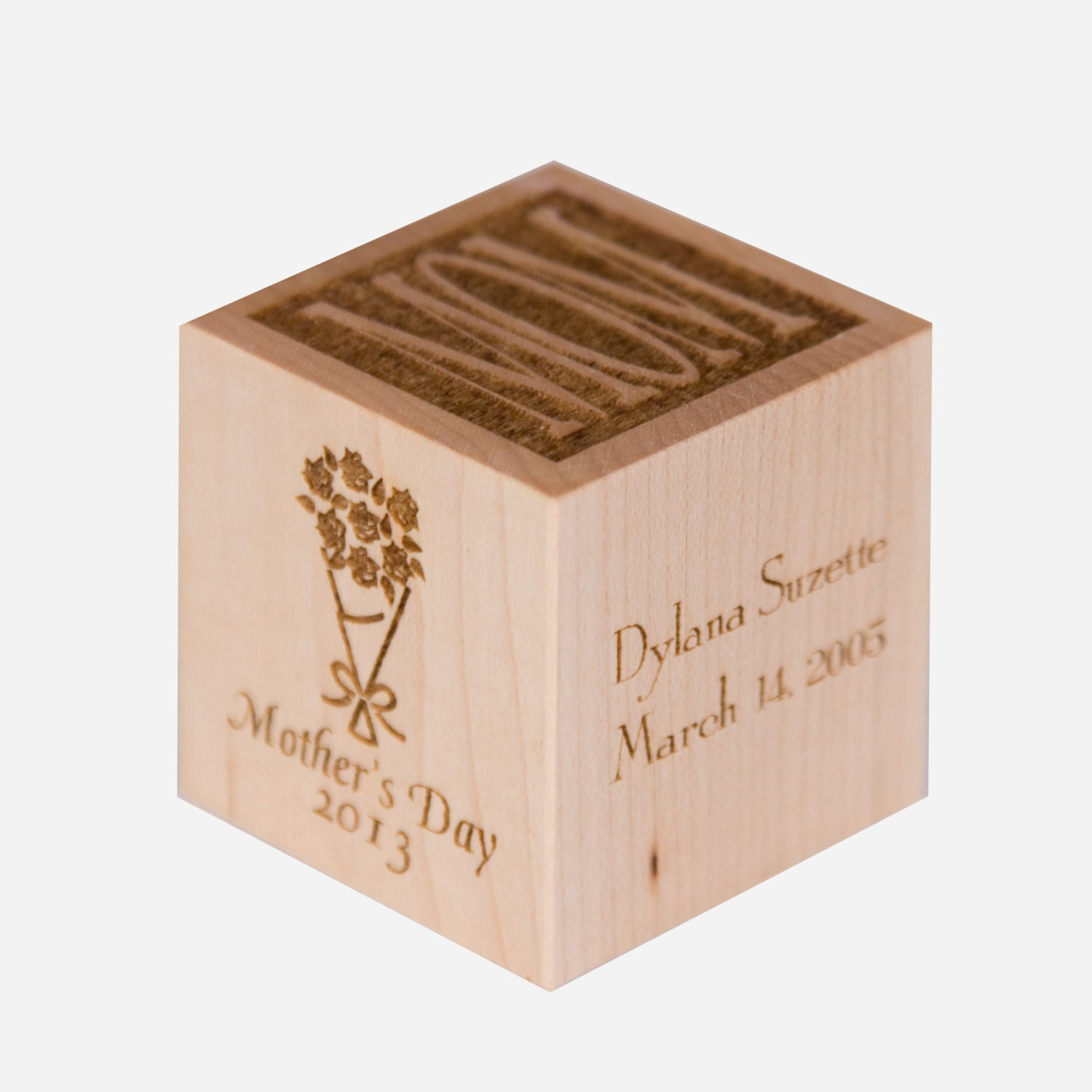 Personalized Mother 39 S Day Gift Wooden Mother 39 S Block