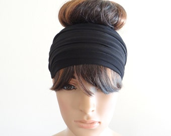 Black Headband.Black Head Wrap.