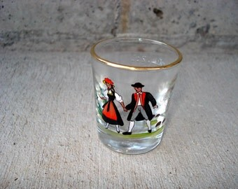 Vintage Shot Glass German Titisee Souvenir Barware Shot Glass