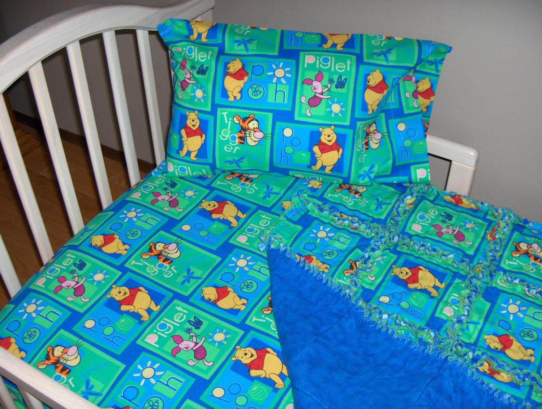 Winnie the pooh toddler bedding - Disney Winnie The Pooh Toddler Bed Crib Bedding Set Rag Quilt