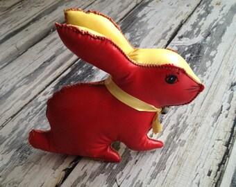 Vintage vinyl bunny rabbit toy