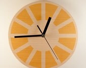 Wall Clock.Modern.Wood.Home.Minimalism.Yellow.Blue.Red.Green