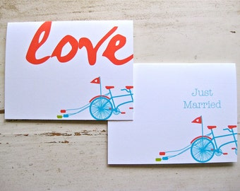 I do. Wedding Notecards - 2 Designs - Set of 8 - Personalization Available