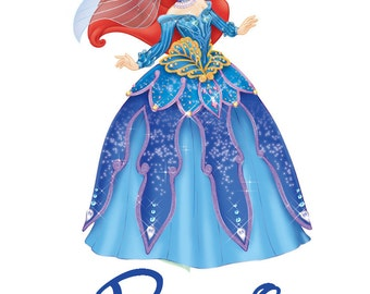 Custom Personalized Princess Ariel Iron on Transfer Decal(iron on transfer, not digital download)