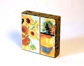 Vincent van Gogh - still life vase with twelve sunflowers   -  Original Art with Mixed Construction Technique.