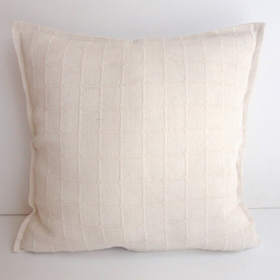 Cream Decorative Pillow Covers : Items similar to cream decorative throw pillow cover- floral pillow cover - 16x16 inch pillow ...