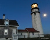 Cape Cod Lighthouse Full Moon Photo