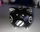 Black & White Mini Piggy Bank