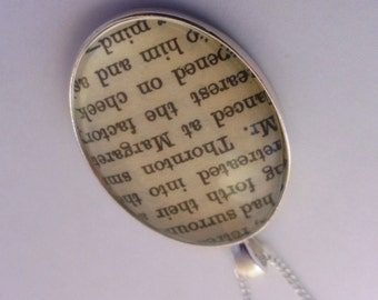 North and South Mr Thornton Book Page Necklace