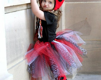 Red, Black Polka Dot, and White Ladybug Tutu