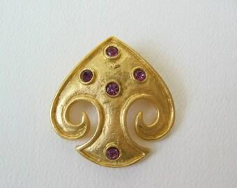 Vintage Leslie Block pin brooch