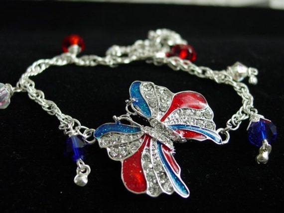 wounded warriors bracelet white and blue by